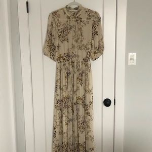 Aritzia silk maxi dress